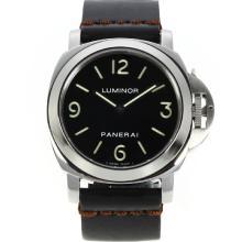 Replique Panerai Luminor Unitas 6497 Mouvement Swan Neck avec cadran noir-bracelet en cuir - Attractive Panerai Luminor Marina Montre pour vous 31017