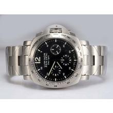 Replique Panerai Luminor Daylight Chronograph Valjoux 7750 Mouvement suisse avec cadran noir - Attractive Autres Panerai montre pour vous 31639