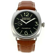 Replique Panerai Radiomir Black Seal automatique avec cadran noir-bracelet en cuir - Attractive Panerai Radiomir Montre pour vous 30975