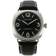 Replique Panerai Radiomir automatique avec cadran noir-bracelet en cuir - Attractive Panerai Radiomir Montre pour vous 30973