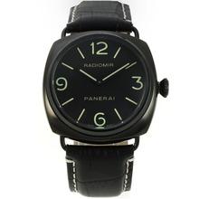 Replique Panerai Radiomir Montre Automatique PVD affaire avec cadran noir-bracelet en cuir - Attractive Panerai Radiomir Montre pour vous 30969