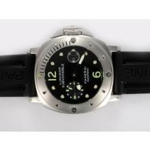 Replique Panerai Luminor Submersible PAM24 suisse Valjoux 7750 Cadran Noir Mouvement avec bracelet en caoutchouc - Attractive Panerai Luminor Submersible Montre pour vous 31619