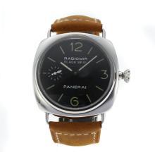 Replique Panerai Radiomir Unitas 6497 Mouvement avec col de cygne avec bracelet en cuir noir Cadran-Camel - Attractive Panerai Radiomir Montre pour vous 30949
