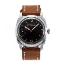 Replique Panerai Radiomir Unitas 6497 Mouvement avec col de cygne avec bracelet en cuir cadran noir-brun - Attractive Panerai Radiomir Montre pour vous 30904