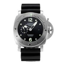 Replique Panerai Luminor Submersible automatique avec bracelet en cuir noir Cadran Noir-- Attractive Panerai Luminor Submersible Montre pour vous 30891