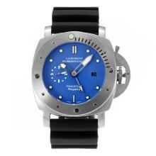 Replique Panerai Luminor Submersible GMT automatique avec bracelet en caoutchouc cadran bleu-noir - Attractive Panerai Luminor Submersible Montre pour vous 30887