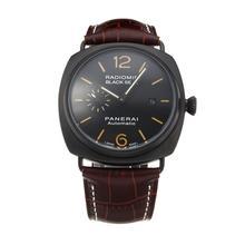 Replique Panerai Black Seal Raiomir Automatique PVD affaire avec bracelet en cuir cadran noir-café - Attractive Panerai Radiomir Montre pour vous 30883