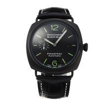 Replique Panerai Black Seal Raiomir Automatique PVD affaire avec bracelet en cuir noir Cadran Noir-- Attractive Panerai Radiomir Montre pour vous 30882