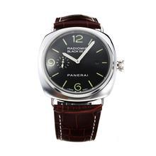 Replique Panerai Black Seal Raiomir automatique avec cadran noir bracelet en cuir vert Marqueurs-café - Attractive Panerai Radiomir Montre pour vous 30880