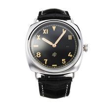 Replique Panerai Raiomir automatique avec bracelet en cuir noir Cadran Noir-- Attractive Panerai Radiomir Montre pour vous 30877
