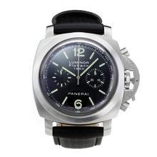 Replique Panerai Flyback chronographe suisse Luminor 1950 Valjoux 7750 Mouvement avec cadran noir-bracelet en cuir - Attractive montre Panerai Luminor Regatta pour vous 30868