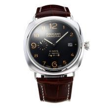 Replique Panerai Radiomir 8 Dyas réserve automatique de puissance de travail avec bracelet en cuir cadran noir-brun - Attractive Panerai Radiomir Montre pour vous 30839