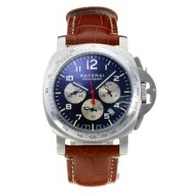 Replik Panerai Luminor Chrono Working Chronograph with Black Dial-Brown Leather Strap – Attractive Panerai Others Watch for You 30836