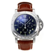 Replik Panerai Luminor Daylight Working Chronograph with Black Dial-Brown Leather Strap – Attractive Panerai Others Watch for You 30835