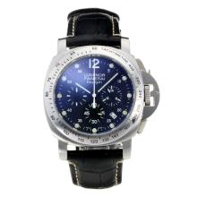 Replik Panerai Luminor Daylight Working Chronograph with Black Dial-Black Leather Strap – Attractive Panerai Others Watch for You 30833