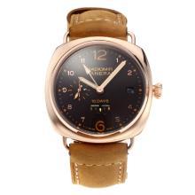 Replique Panerai Radiomir 10 Days Automatic Power Reserve boîtier en or rose avec cadran noir-bracelet en cuir - Attractive Panerai Radiomir Montre pour vous 30799