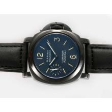 Replique Panerai Luminor Marina Militare Unitas 6497 Mouvement PVD affaire avec AR Coating Nouvelle - Attractive Panerai Luminor Marina Montre pour vous 31556