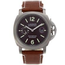 Replique Panerai Luminor Marina Automatic avec l'affaire Brown Titane Cadran-Full - Attractive Panerai Luminor Marina Montre pour vous 31482