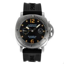 Replique Panerai submersible automatique avec cadran noir à damier-Orange Marquage - Attractive Panerai Luminor Submersible Montre pour vous 31458