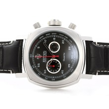 Replique Panerai Ferrari Pour travail Chronographe avec cadran damier noir - bracelet en cuir - Attractive Panerai Ferrari par Panerai montre pour vous 31402