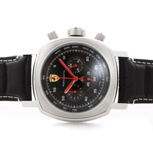 Replique Panerai Ferrari Rattrapante Pour travail Chronographe avec cadran noir - bracelet en cuir - Attractive Panerai Ferrari par Panerai montre pour vous 31401
