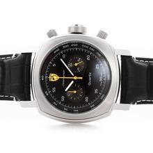 Replique Panerai Ferrari Pour travail Chronographe avec cadran noir - bracelet en cuir - Attractive Panerai Ferrari par Panerai montre pour vous 31396