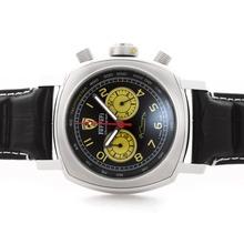 Replique Panerai Ferrari Pour travail Chronographe avec cadran noir - bracelet en cuir - Attractive Panerai Ferrari par Panerai montre pour vous 31394