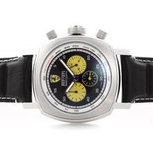 Replique Panerai Ferrari Rattrapante Pour travail Chronographe avec cadran noir - bracelet en cuir - Attractive Panerai Ferrari par Panerai montre pour vous 31393