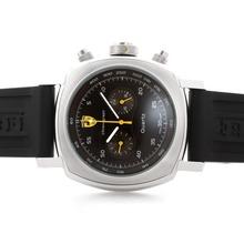 Replique Panerai Ferrari Pour travail Chronographe avec cadran noir - bracelet en caoutchouc - Attractive Panerai Ferrari par Panerai montre pour vous 31392