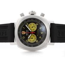Replique Panerai Ferrari Pour-Chronographe avec cadran noir-jaune cadran - Bracelet Caoutchouc - Attractive Panerai Ferrari par Panerai montre pour vous 31389