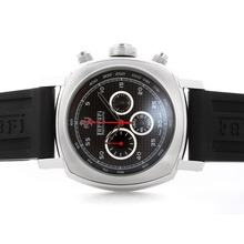 Replique Panerai Ferrari Rattrapante Chronograph Pour Travailler avec cadran damier noir - bracelet en caoutchouc - Attractive Panerai Ferrari par Panerai montre pour vous 31387