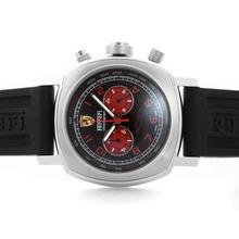 Replique Panerai Ferrari Pour travail Chronographe avec cadran noir - bracelet en caoutchouc - Attractive Panerai Ferrari par Panerai montre pour vous 31386