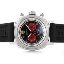 Replique Panerai Ferrari Rattrapante Pour travail Chronographe avec cadran noir - bracelet en caoutchouc - Attractive Panerai Ferrari par Panerai montre pour vous 31383