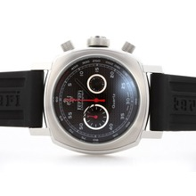 Replique Panerai Ferrari Pour travail Chronographe avec cadran damier noir - bracelet en caoutchouc - Attractive Panerai Ferrari par Panerai montre pour vous 31379