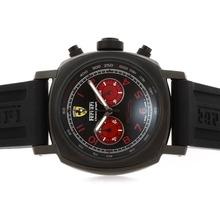 Replique Panerai Ferrari Pour Travailler Chronographe PVD affaire avec cadran noir-rouge Nombre de marquage - Attractive Panerai Ferrari Panerai Regarder par pour vous 31366