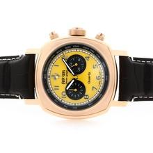 Replique Panerai Ferrari Pour-Chronographe en or rose avec cadran jaune - Attractive Panerai Ferrari Panerai Regarder par pour vous 31359
