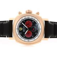 Replique Panerai Ferrari Pour Rettrapante Chronographe de travail boîtier en or rose avec cadran noir - Attractive Panerai Ferrari Panerai Regarder par pour vous 31354
