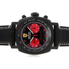 Replique Panerai Ferrari 2009 Special Edition FE00038 suisse Valjoux 7750 Mouvement PVD affaire avec des marqueurs rouges - Attractive Panerai Ferrari par Panerai montre pour vous 31321
