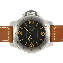 Replique Panerai Radiomir Unitas 6497 Mouvement avec Orange Marqueurs-60MM Version surdimensionnée - Attractive Autres Panerai montre pour vous 31319