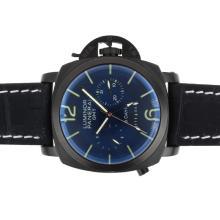 Replique Panerai Luminor GMT 8 Days Automatic PVD avec cadran noir et bracelet - Attractive Panerai Power Reserve / GMT Regarder pour vous 31297