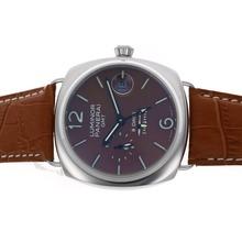 Replique Panerai Luminor GMT 8 Jours automatique avec cadran brun et bracelet - Attractive Panerai Réserve de marche / GMT Regarder pour vous 31292