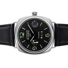Replique Panerai Luminor GMT 8 Jours automatique avec cadran noir et bracelet - Attractive Panerai Réserve de marche / GMT Regarder pour vous 31291