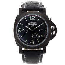 Replique Panerai Luminor GMT travail Automatique PVD affaire avec cadran noir et bracelet - Attractive Panerai Power Reserve / GMT Regarder pour vous 31289