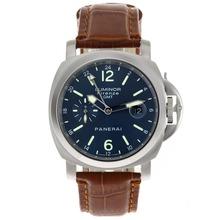 Replique Panerai Luminor GMT Firenze automatique avec cadran bleu-bracelet en cuir - Attractive Panerai Power Reserve / GMT Regarder pour vous 31263