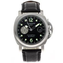 Replique Panerai Luminor GMT automatique avec cadran noir-bracelet en cuir - Attractive Panerai Power Reserve / GMT Regarder pour vous 31262
