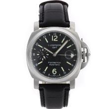 Replique Panerai Luminor GMT travail automatique avec cadran noir-bracelet en cuir - Attractive Panerai Power Reserve / GMT Regarder pour vous 31259