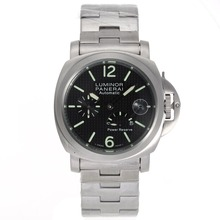 Replique Panerai Luminor Power Reserve de travail automatique avec cadran noir Checkered S / S - Attractive Panerai Luminor Marina Montre pour vous 31230