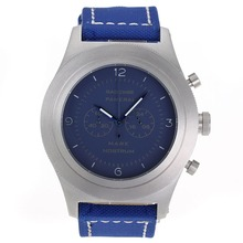 Replique Panerai Radiomir Chronograph Mare Nostrum de travail avec cadran bleu-bracelet en nylon - Attractive Panerai Radiomir Montre pour vous 31206