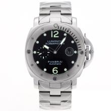 Replique Panerai Luminor Submersible automatique avec cadran noir Checkered S / S-Vert Marqueurs - Attractive Panerai Luminor Submersible Montre pour vous 31189