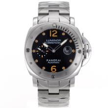 Replique Panerai Luminor Submersible automatique avec cadran noir Checkered S / S-Orange Marqueurs - Attractive Panerai Luminor Submersible Montre pour vous 31187